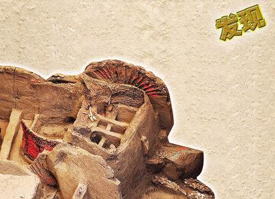 天水 中国/墓坑内出土的铜马车