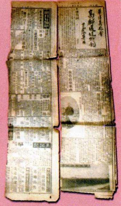 报纸拼贴画鞋