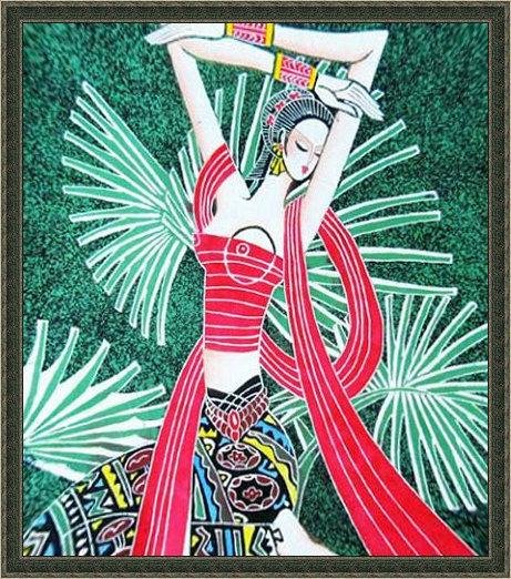 中国甘肃网; 传统民族人物装饰画 民族人物装饰画图片黑白人物装饰画