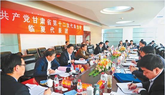 临夏代表团代表讨论党代会报告和纪委工作报告(图)