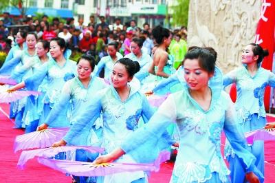 图:永靖县举行人口文化艺术节暨文艺汇演