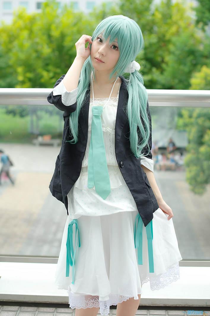 初音未来优雅成熟版cosplay__中国甘肃网