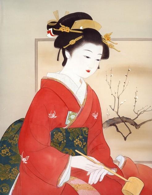 日本古典美女图