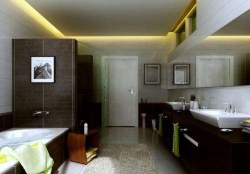 """材料在浴室装修上""""崭露头角"""",因其复古又梦幻的装饰效果而大受"""