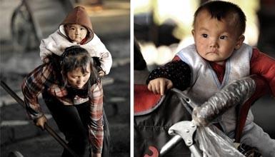 女工与孩子