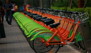 【快乐聚焦】太原环保公共自行车方便市民