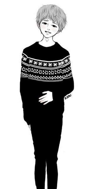 服装设计图手绘男旅游展示