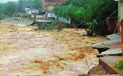 强降雨致天水秦州区受灾