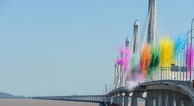 世界上最长最宽的多塔斜拉桥——嘉绍跨海大桥建成通车