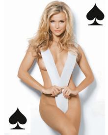 波兰超模乔安娜性感玩转扑克牌