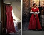 英国百年古宅废弃40年 房门半开高挂大红礼服(图)