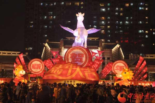 十里运河不夜天 杭州运河文化广场元宵灯会
