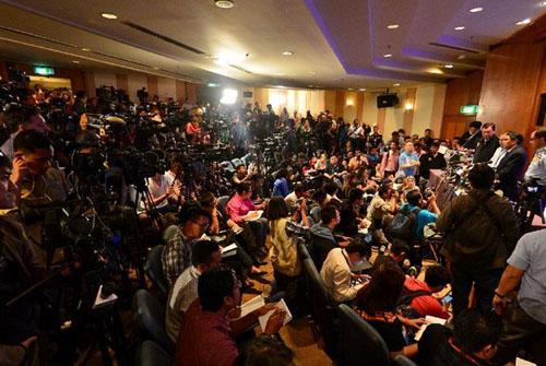 马来西亚民航局举行新闻发布会