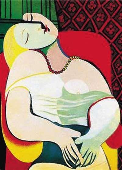 毕加索,但是我看不到他的画.毕加索的名字,上世纪二三十年代高清图片