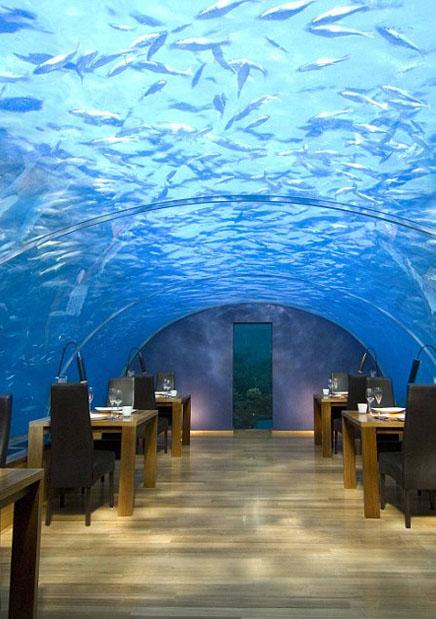 马尔代夫打造世界首家海底餐厅被赞最美