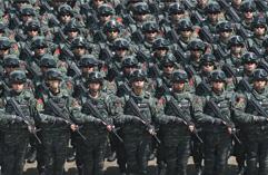 北京武警实装实弹巡逻防控