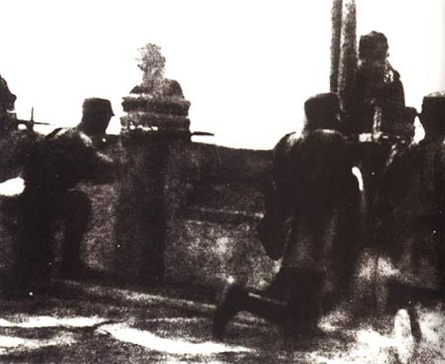 七七事变纪实老照片 中国军队在卢沟桥反击日军进攻