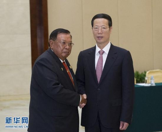 张高丽会见出席第十一届中国-东盟博览会的东盟国家领导人