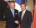 王毅会见法国外交部长法比尤斯