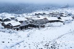 【大美甘肃】甘南扎尕那百年藏寨雪景诱人