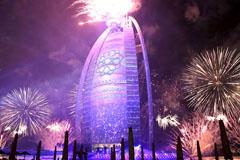 迪拜酒店烟火秀