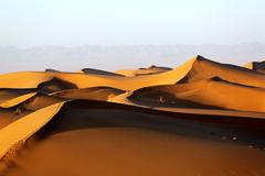 【大美甘肃】冬日阳光下的张掖沙漠
