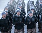 边防军人零下30度训练照