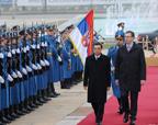 李克强与塞尔维亚总理武契奇举行会谈
