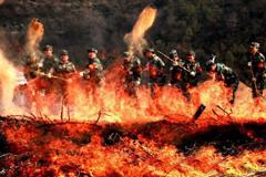 甘陕举行警地联合大规模森林灭火实战演练