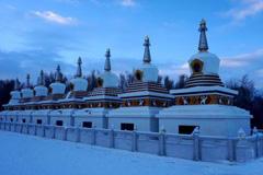 甘肃肃北蒙古族聚居区雪景美如画