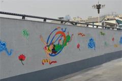 """敦煌壁画""""飞天""""绘上兰州城市隧道"""
