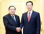 张高丽会见泰国副总理兼国防部长