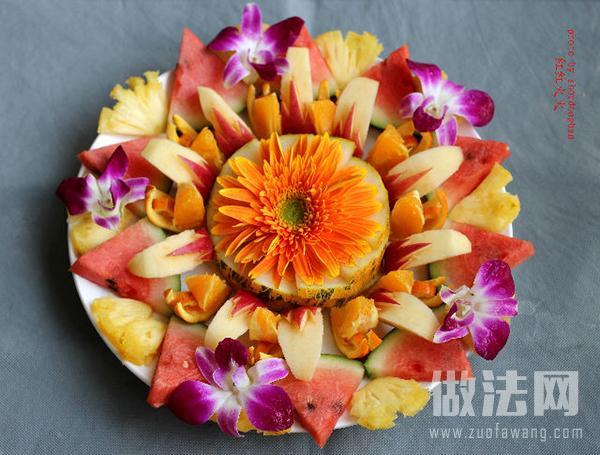 兰花香水果拼盘