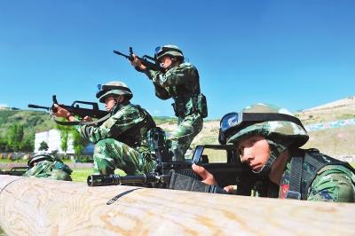 甘肃:艰苦训练的特勤队员