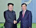 刘云山会见朝鲜劳动党第一书记金正恩
