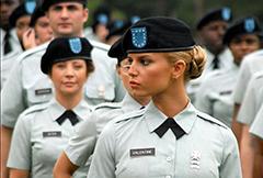 各国高颜值女兵