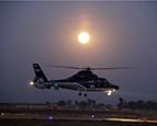 某直升机团组织跨昼夜飞行训练