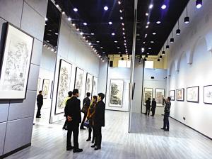 省文交中心签约艺术家画展启幕