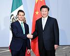 习近平会见墨西哥总统培尼亚