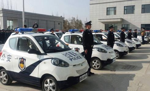 新区公安局发放百辆警用知豆车