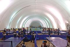 北京一学校建充气膜体育馆抵抗雾霾