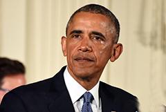 """痛批美国枪支暴力之""""罪"""" 奥巴马落泪"""