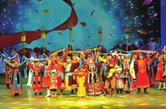 兰州上演舞剧《雪山蒙古人》