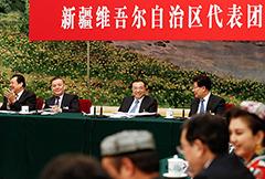 李克强参加新疆代表团审议