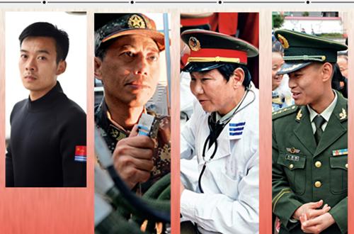历数全国道德模范中的军人面孔