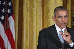"""奥巴马私会""""金主"""":桑德斯气数已尽 全力支持希拉里"""