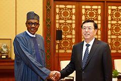 张德江会见尼日利亚总统布哈里