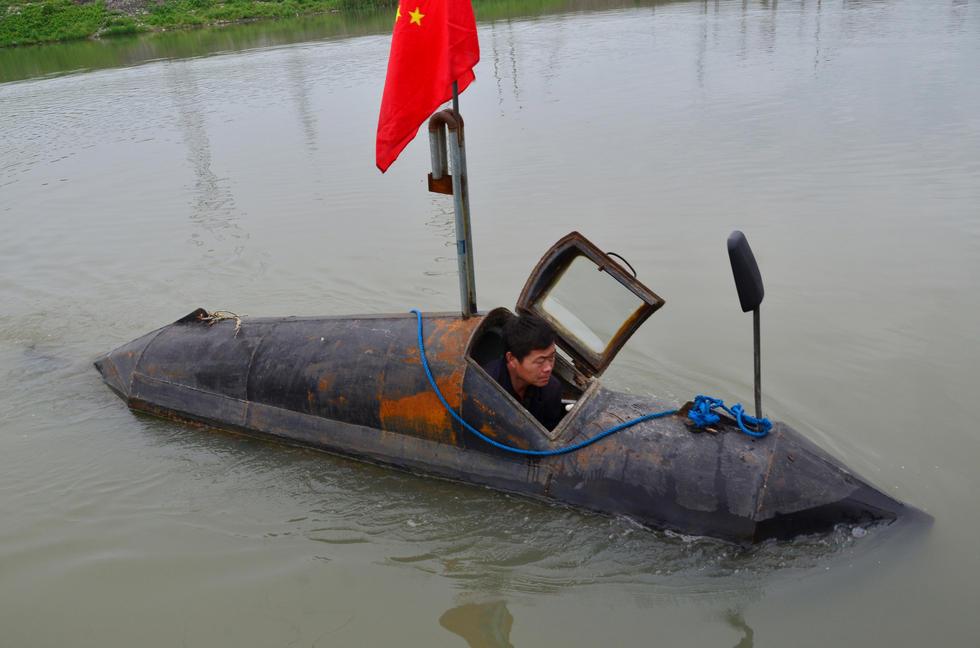 农民造潜艇获专利