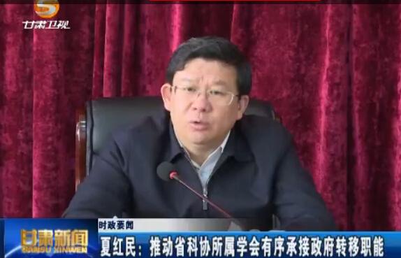 夏红民:推动省科协所属学会有序承接政府转移职能