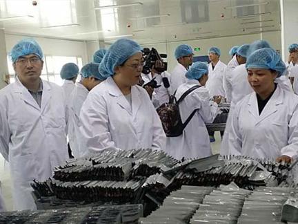 药品安全关乎民生 网媒记者参观普尔康药业公司药品生产全过程